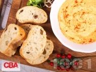 Рецепта Вкусен домашен хумус / пастет с нахут от консерва, чесън и сусамов тахан